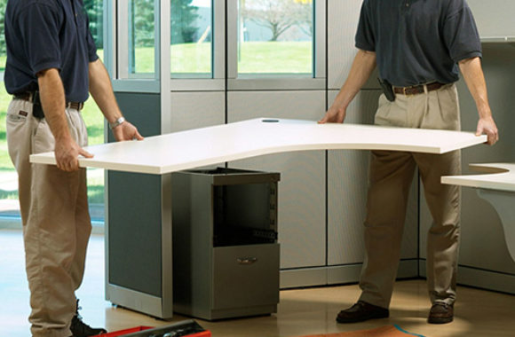 Refurbished Office Furniture Reconfiguration in Surrey, Burnaby