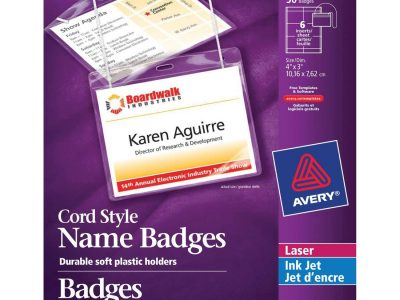 Avery® 5393 Laser/Inkjet Badge Insert