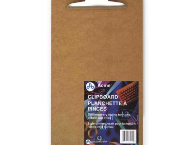 Acme United Deluxe Masonite Clipboard With Hinges