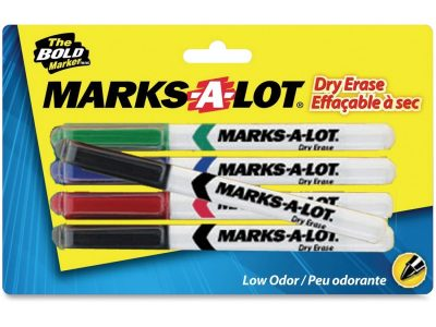 Avery® Marks-A-Lot 4-Color Dry Erase Marker