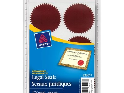 Avery® Self Adhesive Legal Seal