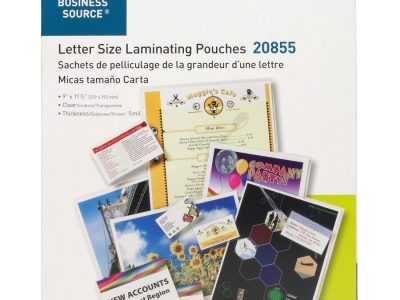 Business Source 5 mil Clear Laminating Pouches