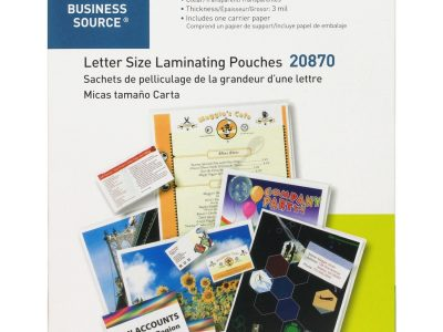 Business Source 3 ml Letter Size Laminating Pouches