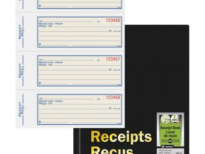 Adams Hardbound Receipt Book
