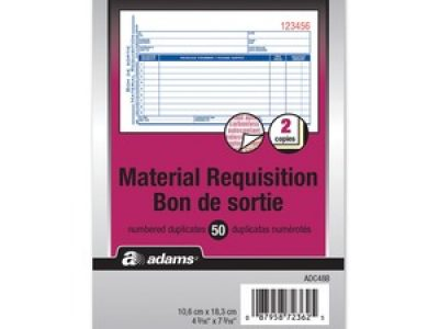 Adams Materials Requisition Form