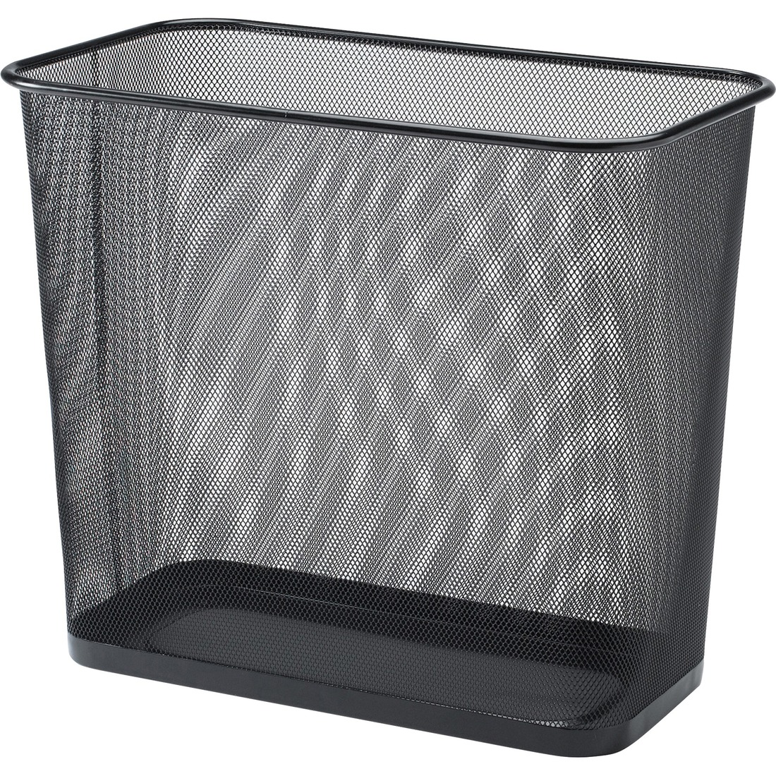 Lorell Steel Mesh Rectangular Waste Bin