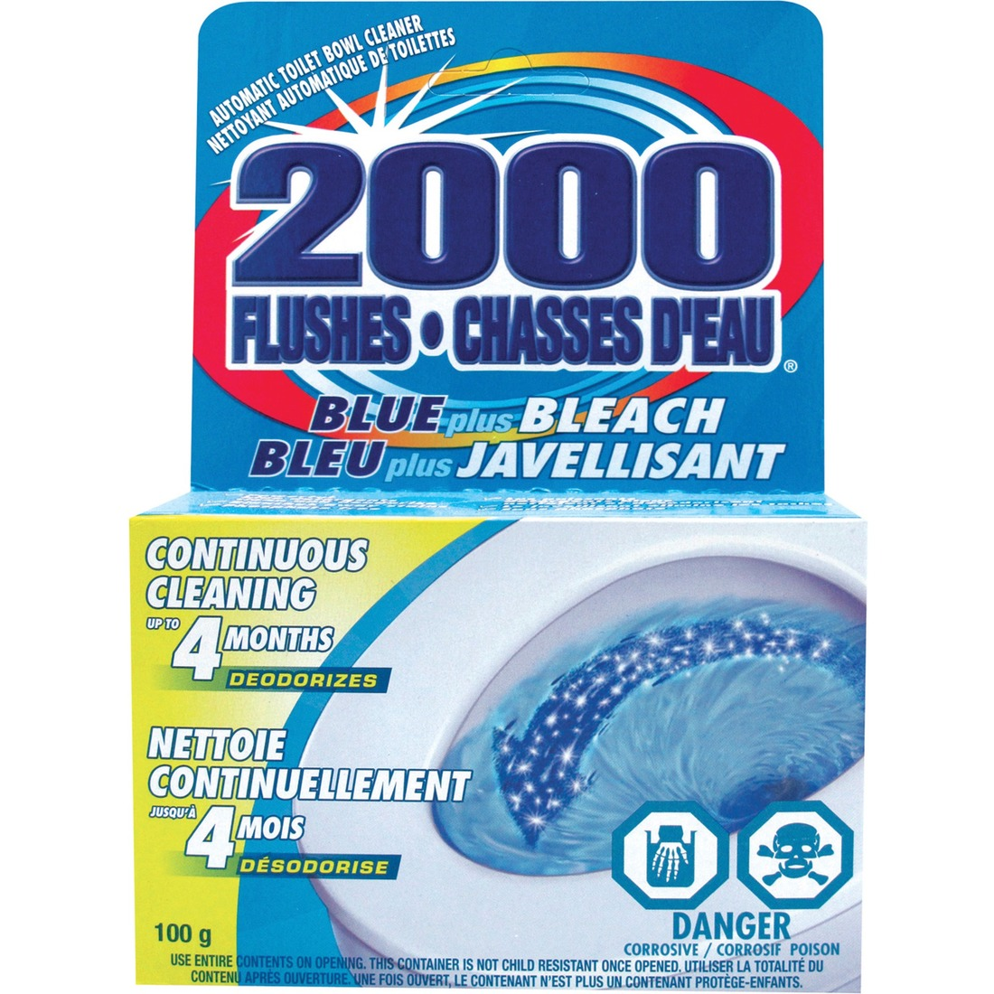 2000 Flushes Blue/Bleach Bowl Cleaner Tablets
