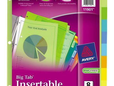 Avery® Big Tab Plastic Insertable Dividers