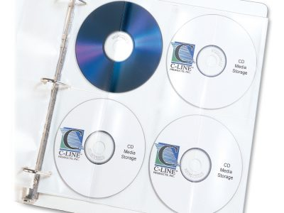 C-Line CD/DVD Poly Insert Refill Pages